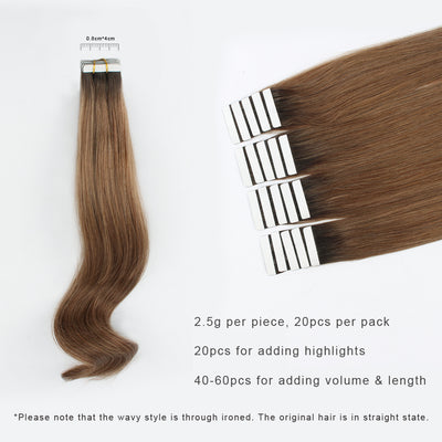 Tape In Hair Extension Rooted R#2/#6
