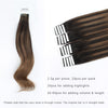 Remy tape in hair extensions Balayage #2/6 |var-31550918557768