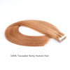 Remy tape in hair extensions #30 light auburn|var-31549208920136
