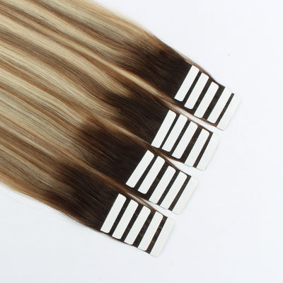 Tape In Hair Extension Rooted Highlights RP3-8/613