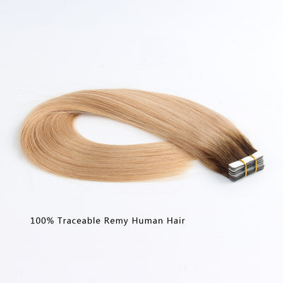 Tape In Hair Extension Rooted R#4/#18