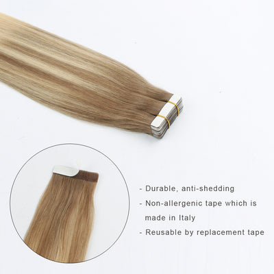 Tape In Hair Extension Balayage B#8/#60