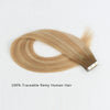Remy tape in hair extensions rooted highlights #8-12/60|var-31549210394696