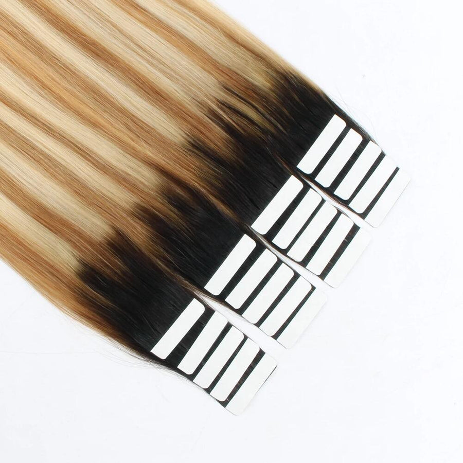 Tape In Hair Extension Rooted Highlights RP2-27/613