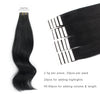 Remy tape in hair extensions #1 jet black |var-31551553765448