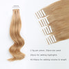 Remy tape in hair extensions #12 golden brown |var-31550917902408
