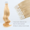 Remy tape in hair extensions #16 golden blonde|var-31549208723528