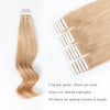 Remy tape in hair extensions #18 dirty blonde |var-31550917935176