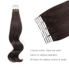 Remy tape in hair extensions #1B off black|var-31549208461384