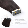 Remy tape in hair extensions #2 dark brown|var-31549208494152