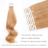 Remy tape in hair extensions #27 strawberry blonde|var-31551457820744