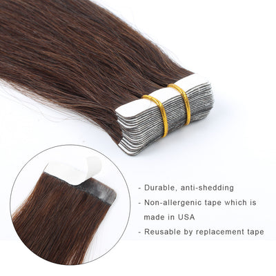Tape  In Hair Extension #3 Medium Dark Brown