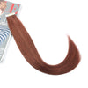 Remy tape in hair extensions #33 dark auburn|var-31551457853512