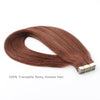 Remy tape in hair extensions #33 dark auburn|var-31549208887368