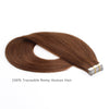 Remy tape in hair extensions #4 medium reddish brown|var-31549208559688