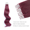 Remy tape in hair extensions #Burgundy |var-31550918066248