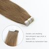 Remy tape in hair extensions #6 chestnut brown|var-31551457656904