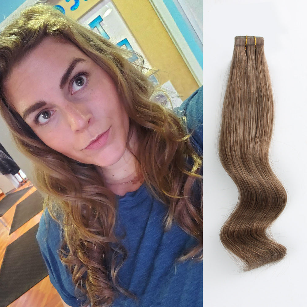 Tape In Hair Extension #6 Chestnut Brown