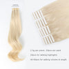 Remy tape in hair extensions #60 Ash Blonde |var-31551554289736