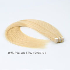 Tape In Hair Extension #613 Bleach Blonde