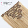 Clip in Hair Extension Highlights P#18/#613