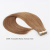 Remy tape in hair extensions #8 ash brown|var-31549208625224