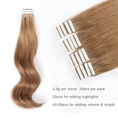 Tape In Hair Extension #8 Ash Brown