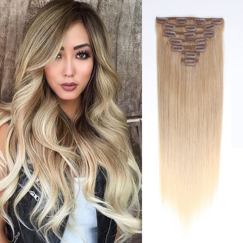 Clip In Hair Extension Brown Mix Blonde Mix860