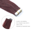 Remy tape in hair extensions #99J dark wine|var-31551457951816