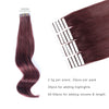 Remy tape in hair extensions #99J dark wine|var-31549208985672