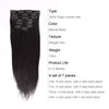 Straight clip in hair extensions natural black 22"