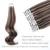 Remy tape in hair extensions highlights #2/6|var-31551458181192