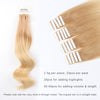 Remy tape in hair extensions omber #12/60|var-31549209247816