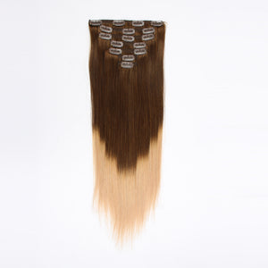 Clip in Hair Extension Ombre Black Blonde T#1c/#18
