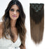 Clip in Hair Extension Brown Ombre T#2/2M6