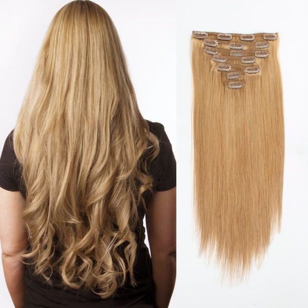 Clip in Hair Extension Strawberry Blonde #27