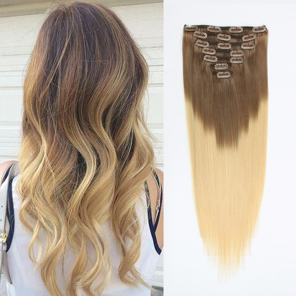 Clip in hair extension ombre bronde t6613 next pmusecretfo Images