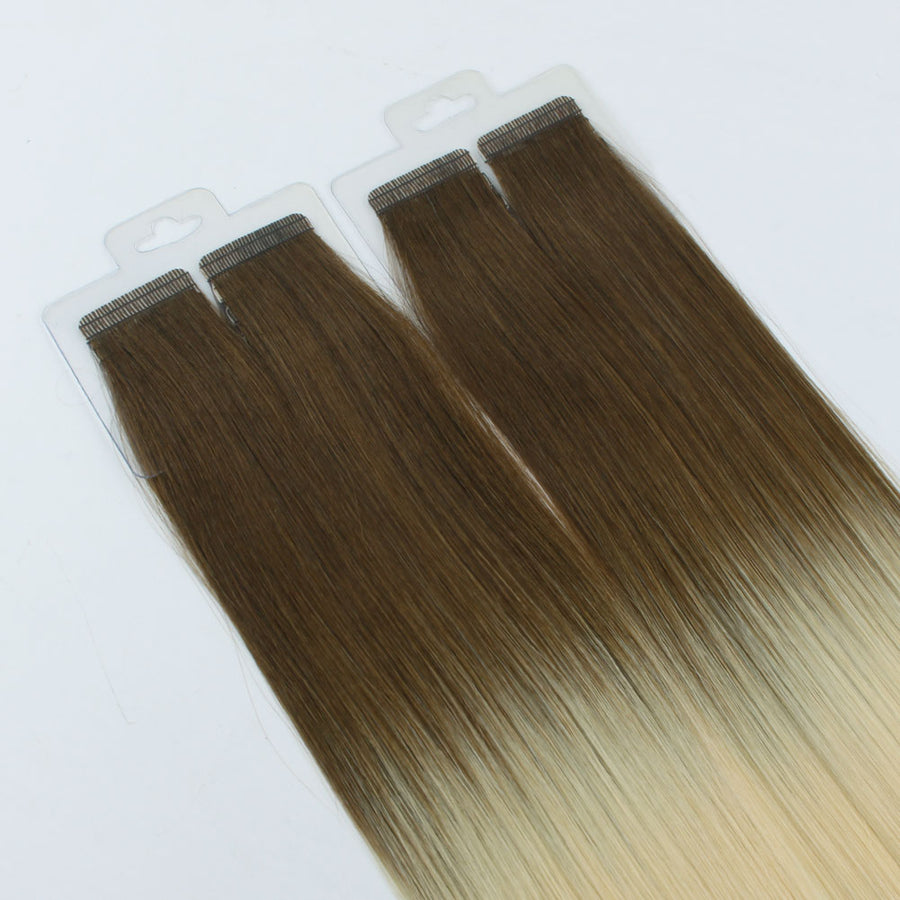 Ombre #4/613 Virgin Tape  In Hair Extension 18""
