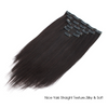 Yaki straight clip in extensions natural black 18"