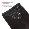 Yaki straight clip in extensions natural black 16"