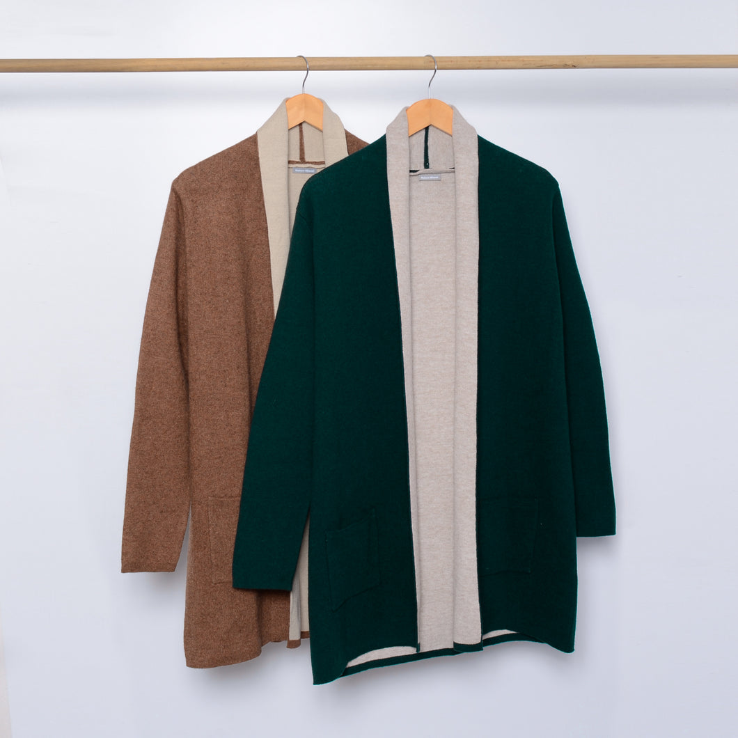 Bicolor Wool Coat