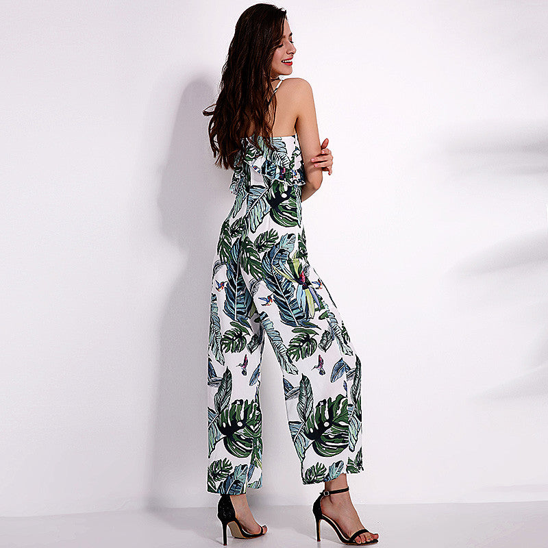 Monsera Pantsuit