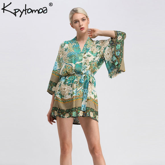 Seafoam Heather Traditional Kimono