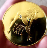 Heads or Tails Sexy Girl Novelty Coin