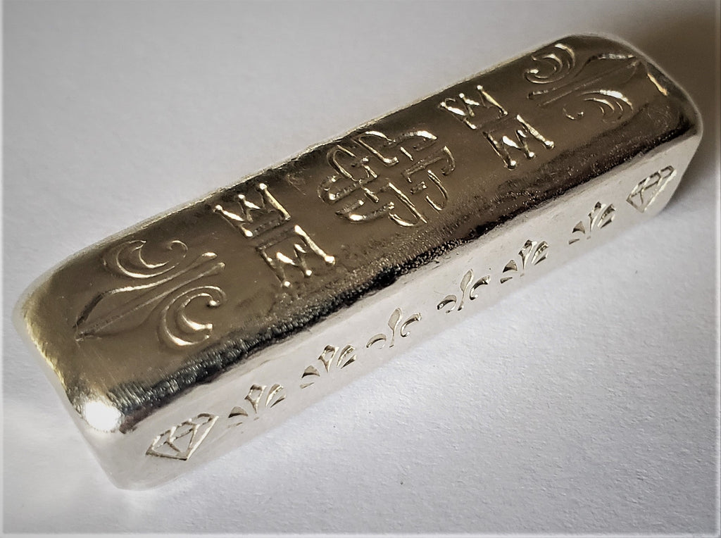 GRIMM METALS - HAND POURED 2 TROY OUNCE .999 FINE SILVER ART BAR - ONLY 3 POURED - 0 REMAIN
