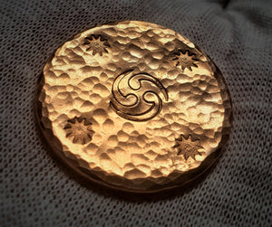 """Eye of the Storm"" Hand Made .999 Fine Copper Round - Only 15 Made - 6 Remain"