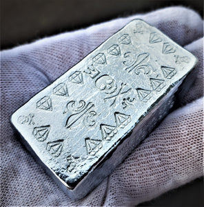 5 Troy Ounce .999 Fine Zinc Pirate Rune Bar