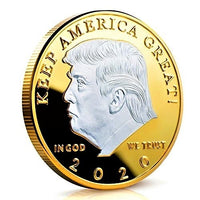 Gold and Silver Plated Donald Trump 2020 Souvenir Coin