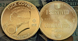 Brass FUCK COVID-19/I SURVIVED CORONAVIRUS Coin - Only 2 Available