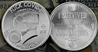 Nickel-Silver FUCK COVID-19/I SURVIVED CORONAVIRUS Coin